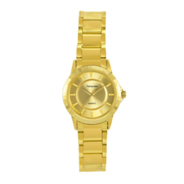 jcpenney.com | Hampden Womens Gold-Tone Personalized Bracelet Watch