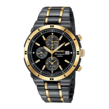 jcpenney.com | Seiko® Mens TiCN Chronograph Watch SNAA30