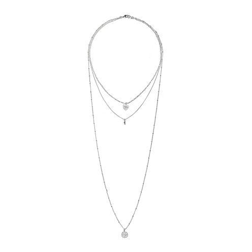 Mixit™ Silver-Tone Three-Row Tree of Life Necklace