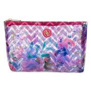 Adrienne Vittadini Pyramid Floral Makeup Bag