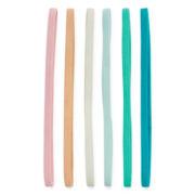 Carole 6-pc. Solid Elastic Headband Set