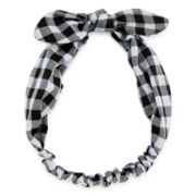 Carole Black and White Print Love Knot Headband