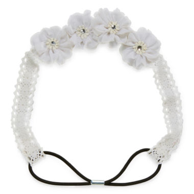 jcpenney.com | Carole White Lace Flower Headband