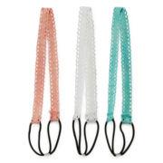 Carole 3-pc. Open Work Fabric Headband Set