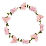 Carole Pink Butterfly Headband