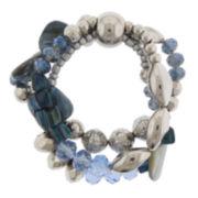 Mixit™ Blue Shell 3-Row Bracelet