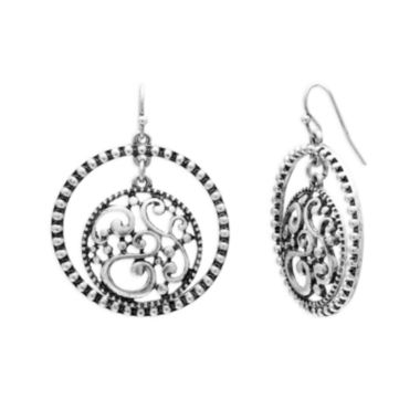 jcpenney.com | Mixit™ Silver-Tone Disc Hoop Earrings