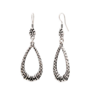 jcpenney.com | Mixit™ Hammered Silver-Tone Teardrop Earrings
