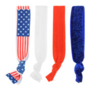 Mixit™ 4-pc. Patriotic Hair Ties