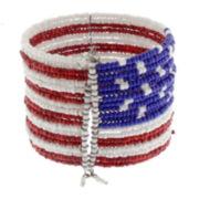 Mixit™ Americana Seed Bead Cuff Bracelet