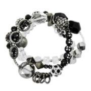 Treska Black Silver-Tone 3-Strand Stretch Bracelet