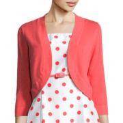 R&K Originals® Elbow-Sleeve Belted Polka Dot Jacket Dress - Petite