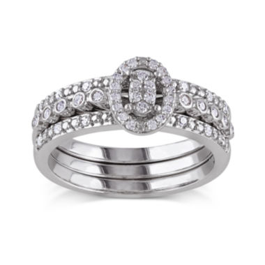 jcpenney.com | 1/3 CT. T.W. Diamond Sterling Silver Bridal Ring Set