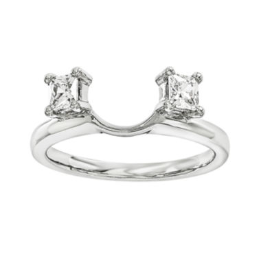 jcpenney.com | 1/3 CT. T.W. Diamond 14K White Gold Ring Wrap