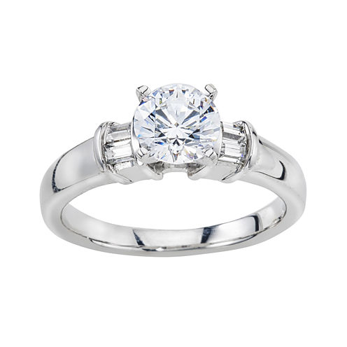 3/4 C.T. TW. Diamond 14K White Gold Engagement Ring