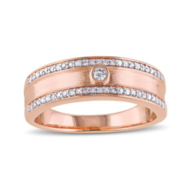 jcpenney.com | 1/5 CT. T.W. Diamond 10K Rose Gold Wedding Band
