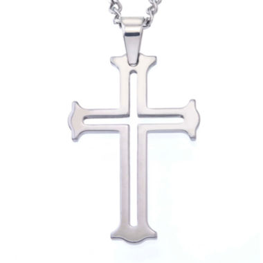 jcpenney.com | Mens Tungsten Cutout Cross Pendant Necklace