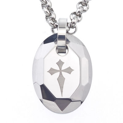 Mens tungsten cross pendant necklace jcpenney mens tungsten cross pendant necklace aloadofball Image collections