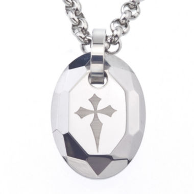 jcpenney.com | Mens Tungsten Cross Pendant Necklace