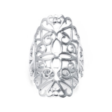 jcpenney.com | Sterling Silver Floral Filigree Ring