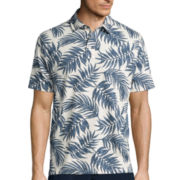 St. John's Bay® Short-Sleeve Print Cotton Polo