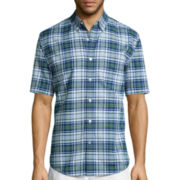 St. John's Bay® Short-Sleeve Easy-Care Oxford Sports Shirt