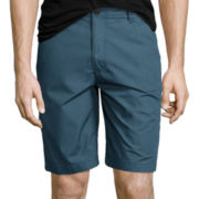 Arizona Poplin Flat-Front Shorts