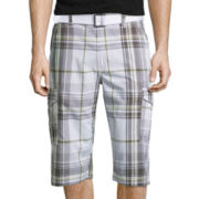 UNIONBAY® Plaid Messenger Cargo Shorts