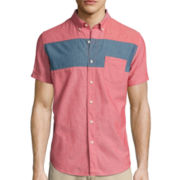 Arizona Short-Sleeve Colorblock Woven Shirt