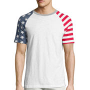 Arizona Short-Sleeve Printed Raglan Tee