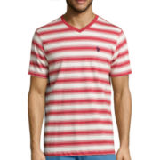 U.S. Polo Assn.® Short-Sleeve Striped V-Neck Tee