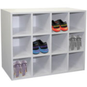 Home Basics 12-Pair Wooden Shoe Cubby