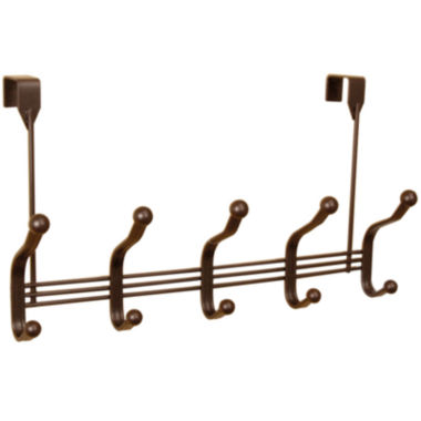 jcpenney.com | Home Basics 5-Hook Bronze Over-the-Door Hanging Rack