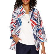 Alfred Dunner® All Aboard 3/4-Sleeve Layered Top