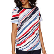 Alfred Dunner® All Aboard Short-Sleeve Striped Top
