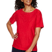 Alfred Dunner® All Aboard Short-Sleeve Lace Top