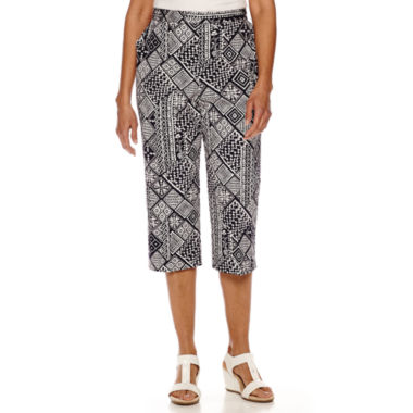 jcpenney.com | Alfred Dunner® Geometric Print Capris