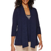 Sag Harbor® The Mariner 3/4-Sleeve Layered Top