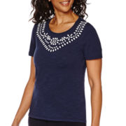 Sag Harbor® The Mariner Short-Sleeve Top