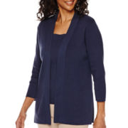Sag Harbor® The Mariner 3/4-Sleeve Cardigan