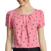 Worthington® Short-Sleeve Keyhole Blouse - Tall