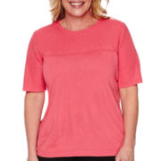 Alfred Dunner® Port Antonio Short-Sleeve Solid Stitch Sweater - Plus