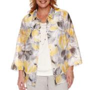 Alfred Dunner® Santa Clara Floral 3/4-Sleeve Layered Top - Plus