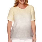 Alfred Dunner® Short-Sleeve Sequin Sweater - Plus