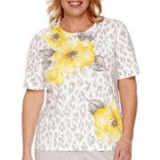 Alfred Dunner® Santa Clara Short-Sleeve Floral Print Top - Plus
