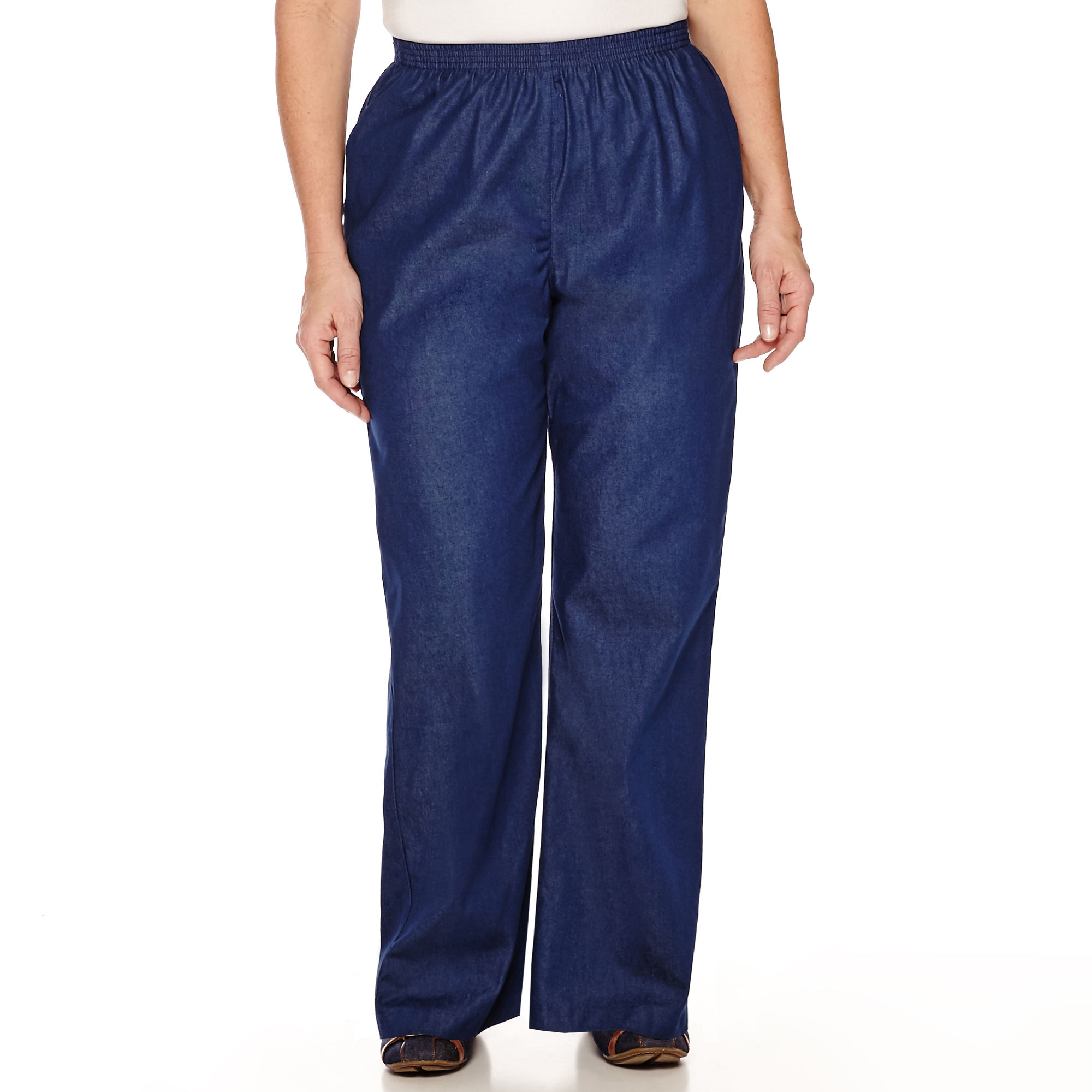 Alfred Dunner Chambray Pull-On Pants - Plus