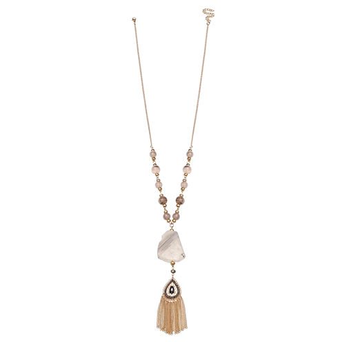 Mixit Womens Gray Pendant Necklace
