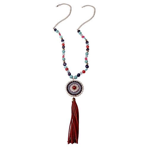 Mixit Womens Blue Pendant Necklace