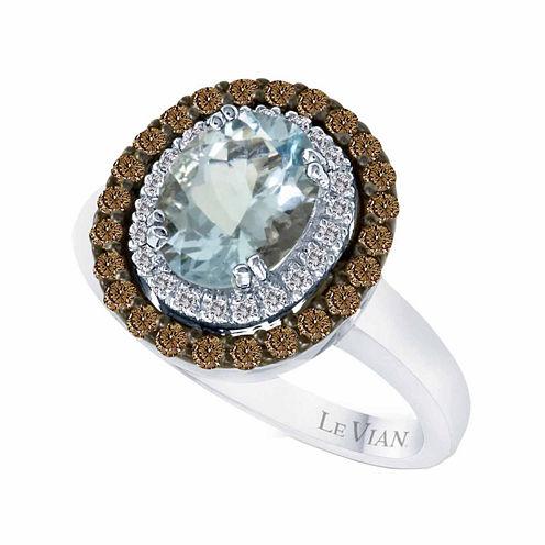 CLOSEOUT! Le Vian® Grand Sample Sale Genuine Aquamarine & Chocolate Diamond® Ring