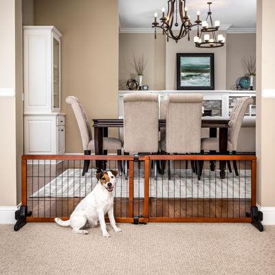 Carlson Adjustable 68 Inch Wide Wood Pet Gate